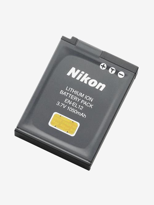 Nikon EN EL12 Lithium ion 1050 mAh Battery  Black