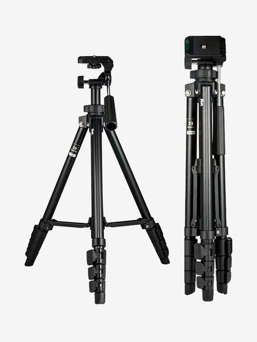 Benro T560 56.5 Inch Digital SLR Camera Aluminium Travel Portable Tripod with Carry Bag  Black