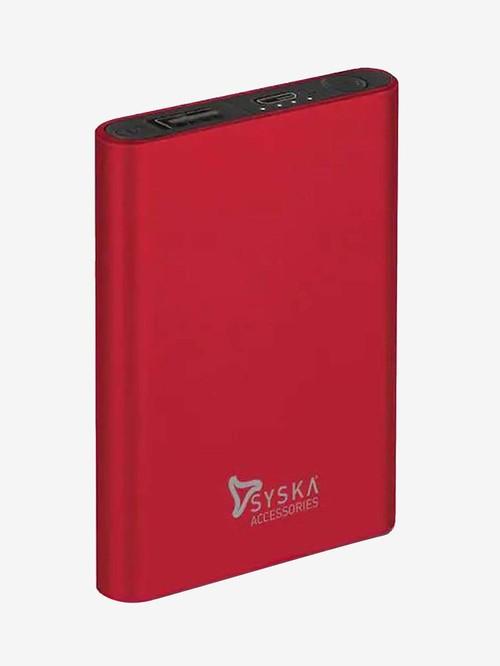Syska P0511J 5000mAh Power Bank  Red