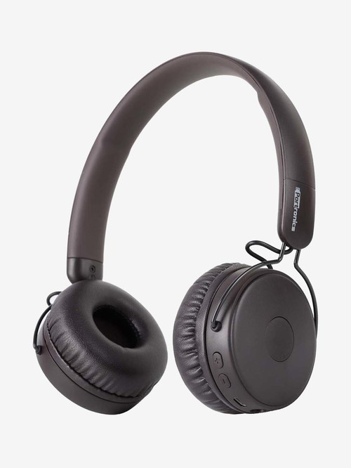 Portronics Muffs M POR 1074 Wireless Bluetooth Headphone with Microphone  Brown