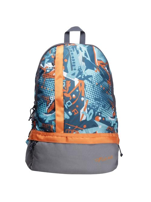 F Gear Burner 19 Ltrs Orange   Blue Medium Backpack