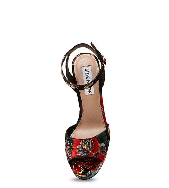 2004b5d9b75 Buy Steve Madden Madeline Red & Green Ankle Strap Sandals for Women ...