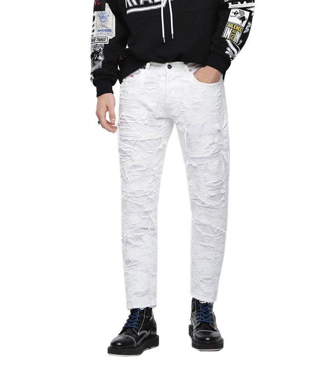 4c82ac43e2f Buy Diesel Bright White Ripped Mharky L.32 Pantaloni Jeans for Men ...