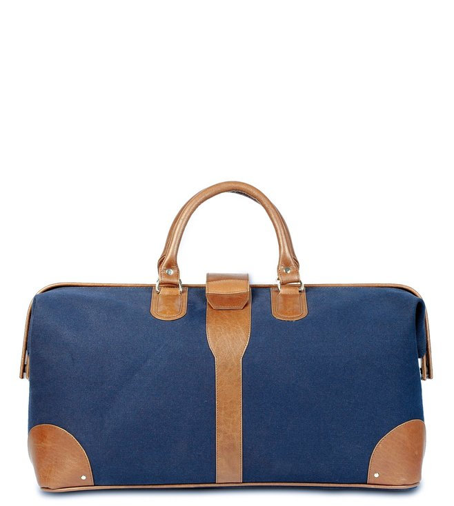 d16092b31b0f Buy Nappa Dori Navy Canvas Doctor Bag for Women Online   Tata CLiQ ...