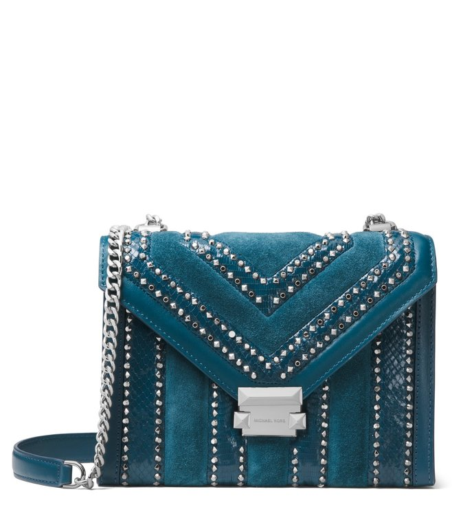 68510cef9b6f Buy MICHAEL Michael Kors Luxe Teal Whitney Cross Body Bag for Women ...
