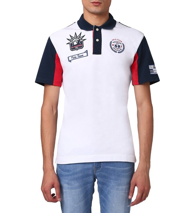 135adedb Buy La Martina Optic White Life Style Polo T-Shirt for Men Online ...