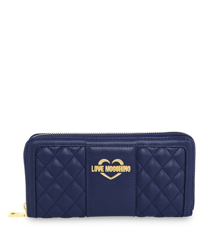Buy Love Moschino Super Quilted Blue Medium Wallet for Women Online ... 0d22277005f42