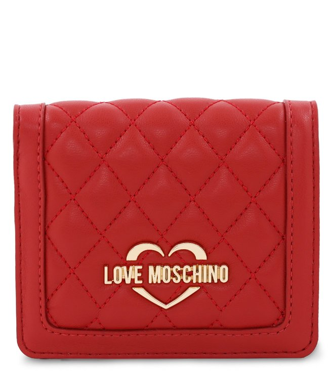 48da001ff8 Buy Love Moschino Super Quilted Rosso Small Wallet for Women Online ...