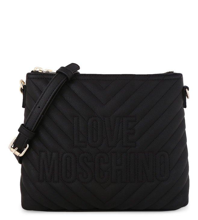 Buy Love Moschino Embroidery Logo Nero Small Cross Body Bag for ... 04701c4c419