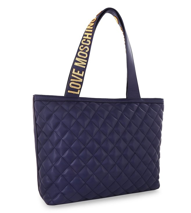 Buy Love Moschino Super Quilted Blue Medium Tote for Women Online ... 34aabecb2bcff