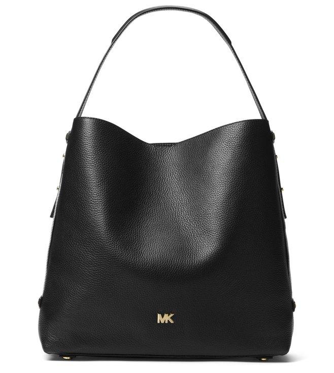 7b82ef545bce Buy MICHAEL Michael Kors Black Hobo Bag for Women Online   Tata CLiQ ...