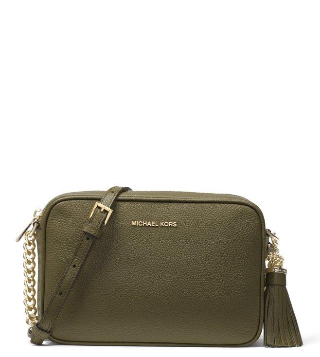 df5e57300c75 Buy MICHAEL Michael Kors Olive Medium Cross Body Bag for Women ...