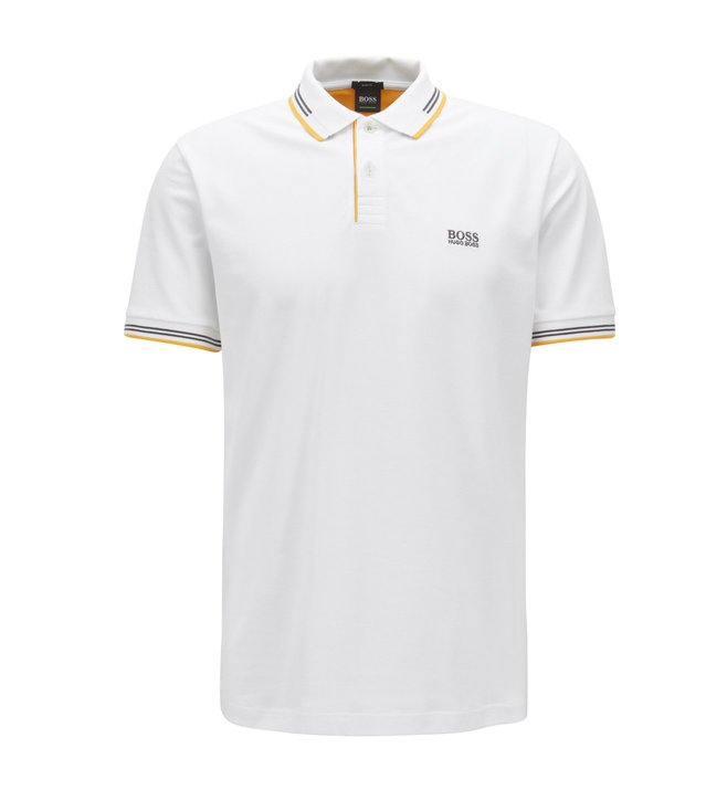 e25f3ccf3 Buy Hugo Boss Natural Paul Polo T-Shirt for Men Online @ Tata CLiQ ...