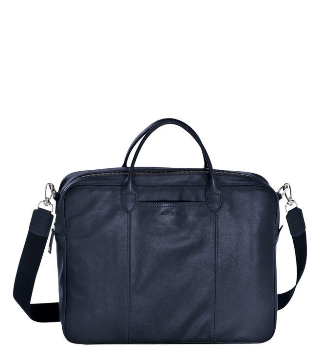 2e3ad2b3b7e4 Buy Longchamp Parisis Navy Medium Laptop Bag for Women Online   Tata ...