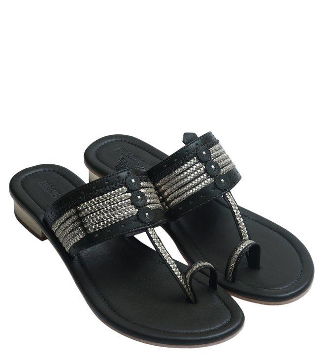 04cb4169033 Buy Aprajita Toor Black Vayati Box Heel Sandals for Women Online ...