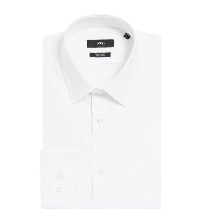 gute Qualität Luxus kaufen niedrigster Rabatt Buy Hugo Boss White Enzo Regular Fit Shirt for Men Online ...