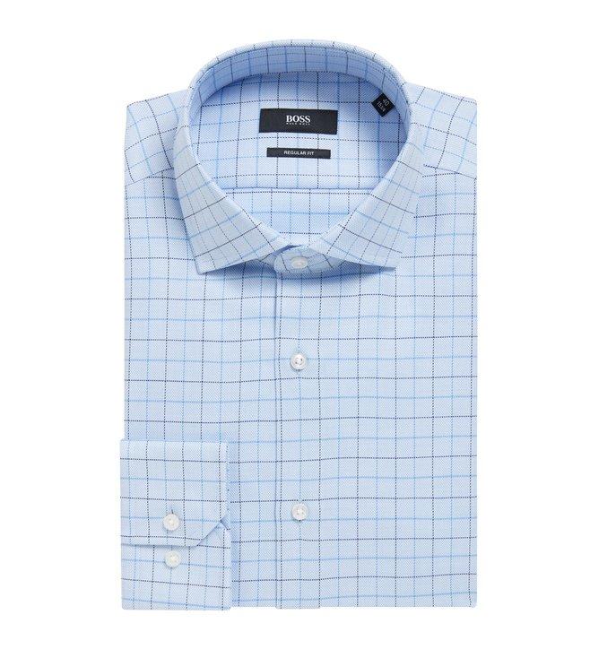 1a0222440 Buy Hugo Boss Light Pastel Blue Gordon Regular Fit Shirt for Men ...