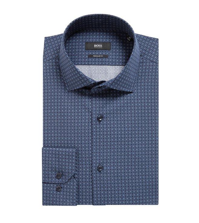 9eb7fc80 Buy Hugo Boss Open Blue Gordon Regular Fit Shirt for Men Online ...