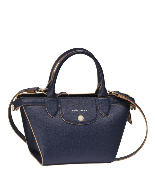 458941285a31 Buy Longchamp Navy Le Pliage Heritage Small Satchel for Women Online ...