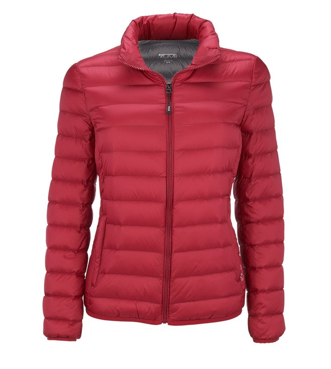 5ea8fd10a69 Buy Tumi Magenta Clairmont Packable Travel Puffer Jacket for Women ...