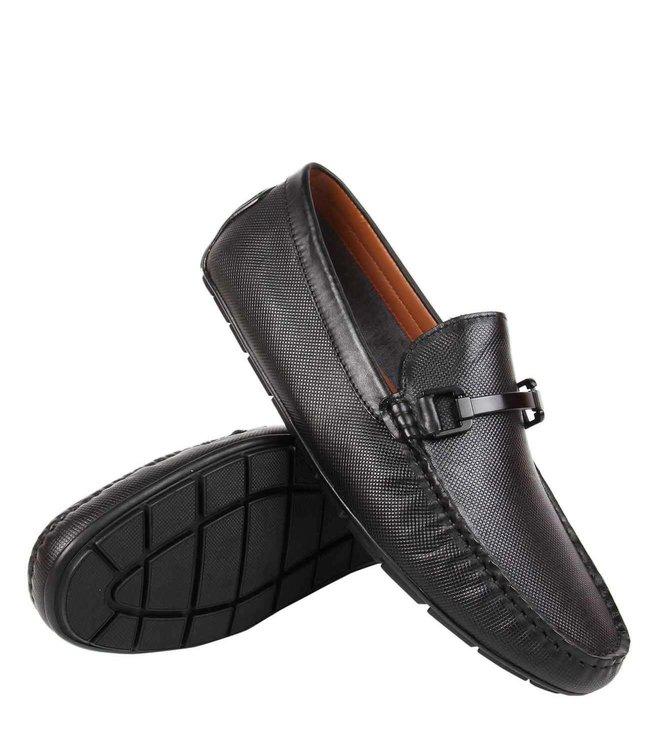 e93518367b7 Buy Steve Madden Black Blair Leather Driver Loafers for Men Online ...