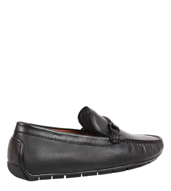 ee75c6c12ee Buy Steve Madden Black Blair Leather Driver Loafers for Men Online ...