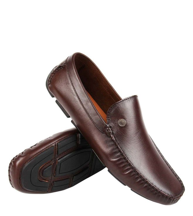 073b0c6d517 Buy Steve Madden Brown Bill Leather Flexible Driver Loafers for Men ...