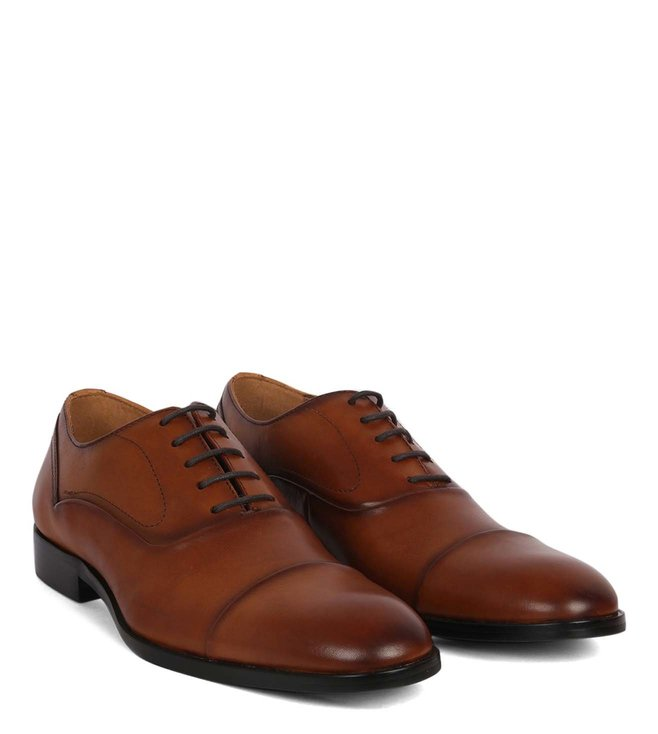 3d83396d500 Buy Steve Madden Tan Evans Leather Oxford Shoes for Men Online ...