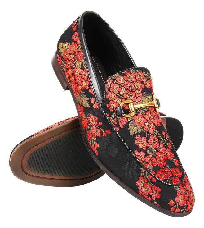 e05c18930c6 Buy Steve Madden Black Multi Dupont Floral Loafers for Men Online ...