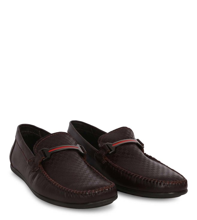 1b7d4626890 Buy Steve Madden Brown Ralphie Leather Loafers for Men Online @ Tata ...
