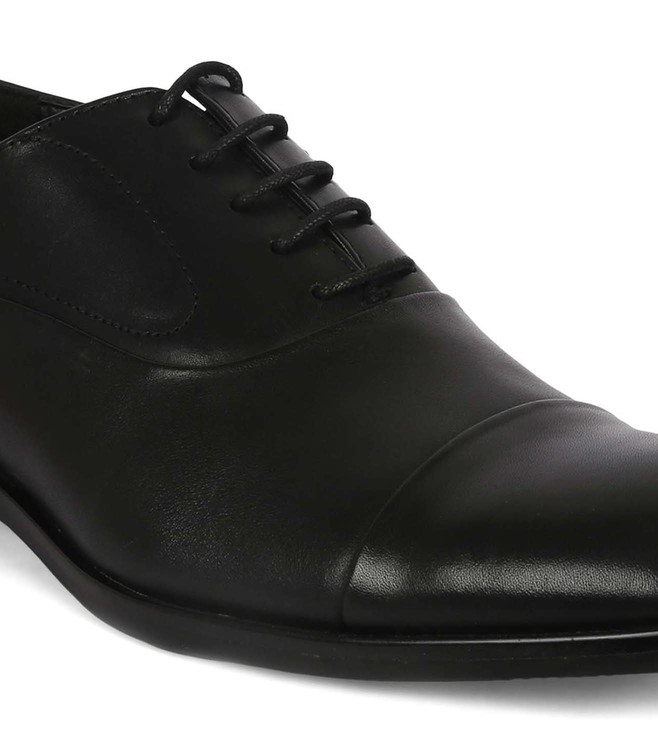 9e84834a407 Buy Steve Madden Black Evans Leather Oxford Shoes for Men Online ...