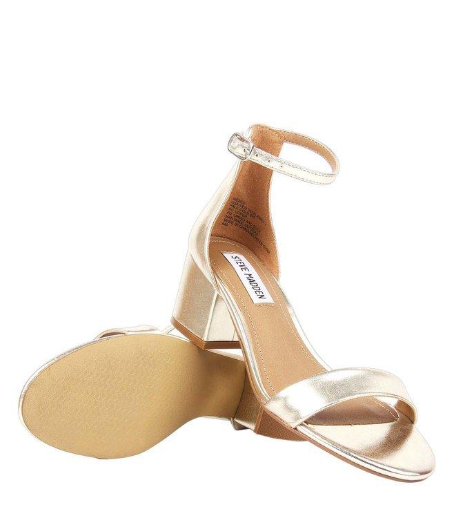 48764615136c Buy Steve Madden Pale Gold Metallic Irenee Ankle Strap Sandals for ...