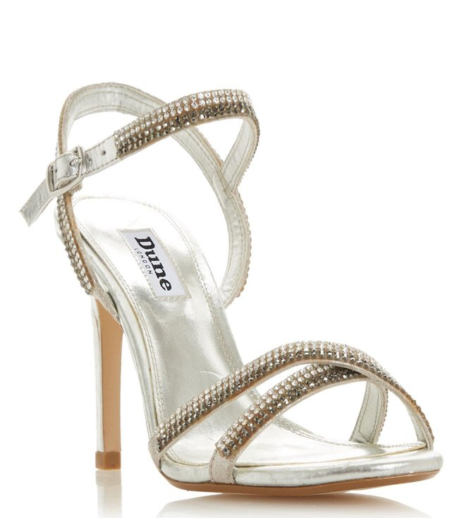 5a15fd2d88 Buy Dune London Silver Magdalenna Studded Stiletto Sandals for Women ...