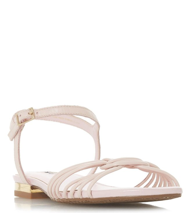 9bfbb97880 Buy Dune London Blush Napa Leather Ankle Strap Sandals for Women ...