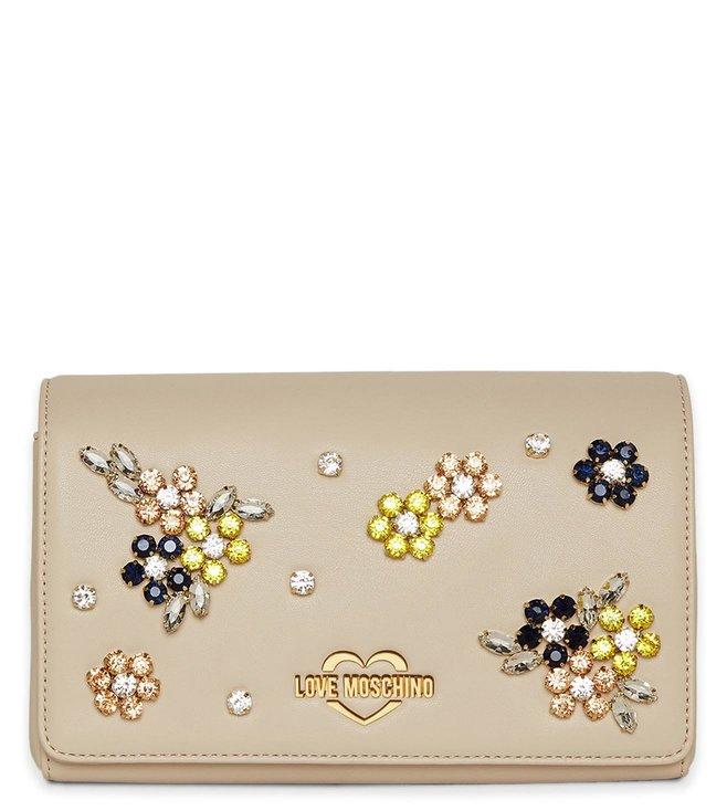83e24652c5 Buy Love Moschino Avorio Borsa Small Studded Clutch for Women Online ...