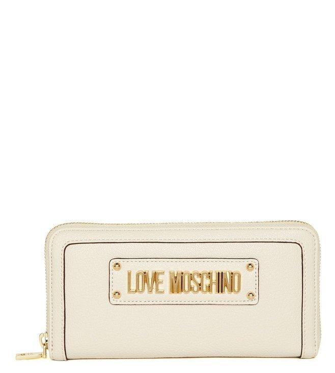 rivenditore sporco nuovo arrivo qualità eccellente Buy Love Moschino Avorio Portafogli Grain Small Wallet for Men ...