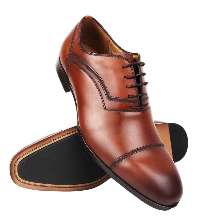 0ff0e539d08 Buy Steve Madden Tan Compass Leather Oxford Shoes for Men Online ...