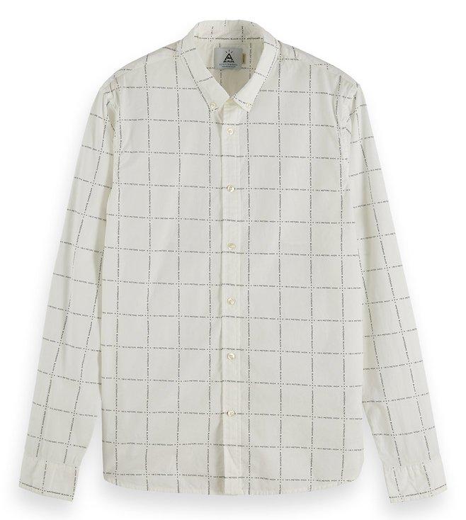 Scotch /& Soda Mens Checked Cotton Shirt Regular Fit