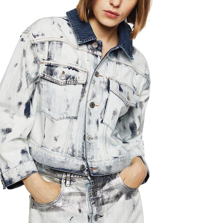 Diesel Blue Regular Fit De-Cate Denim Jacket
