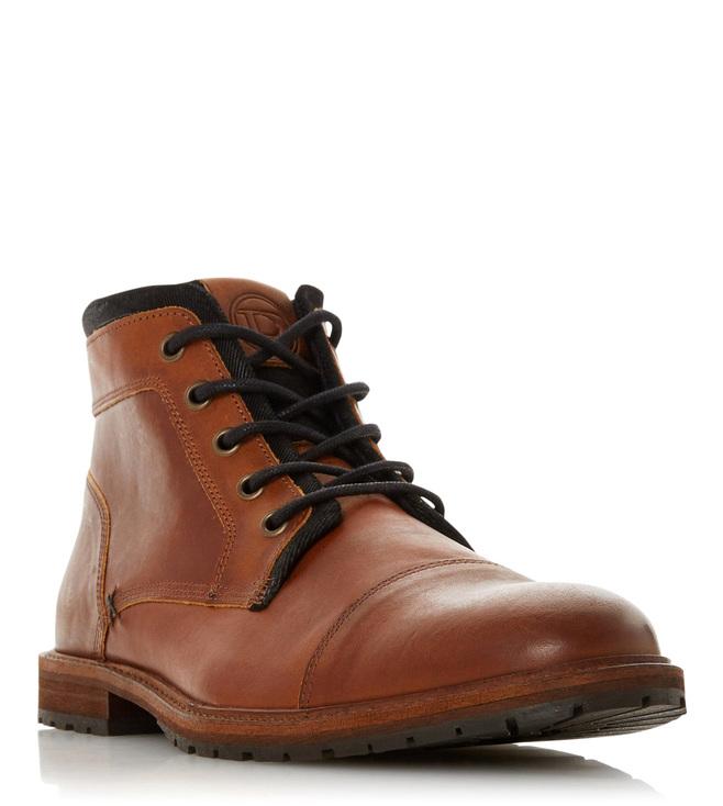 Dune London Brown Crawshaw Chukka Boots