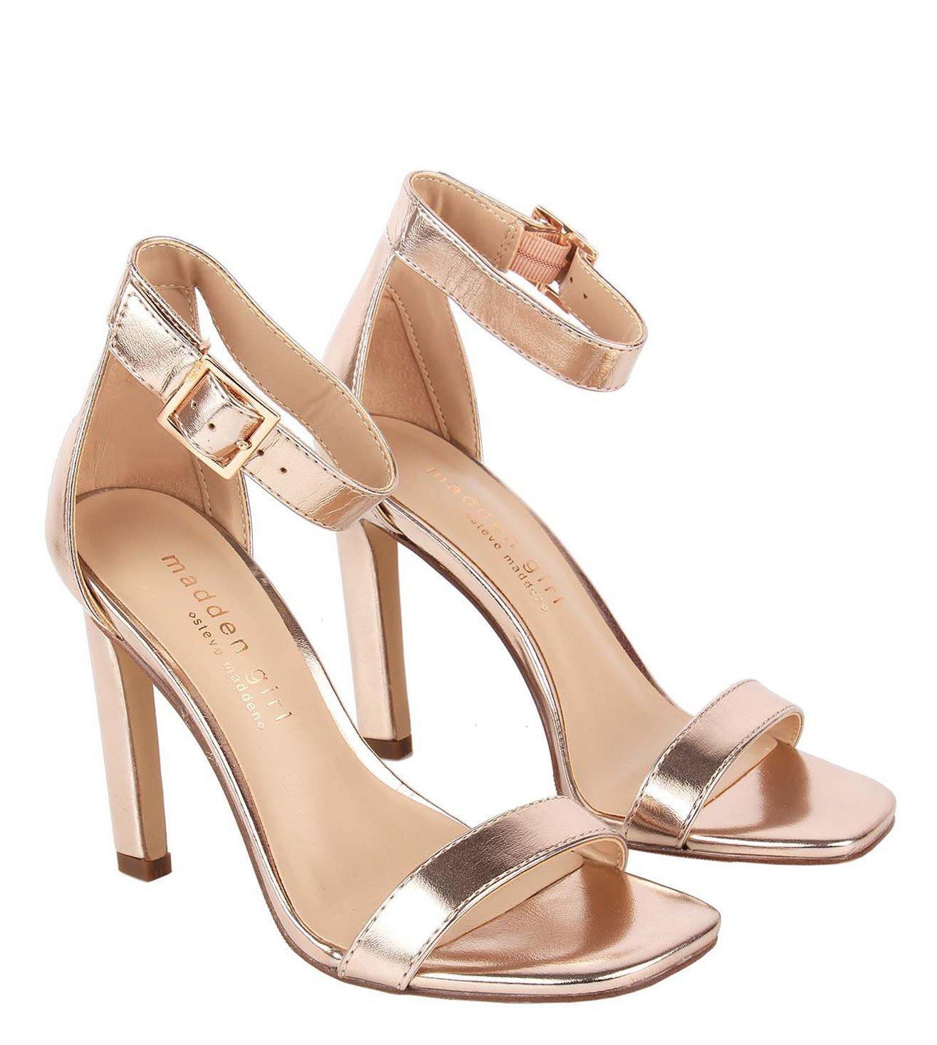 Steve Madden Rose Gold Ara Heel Sandals