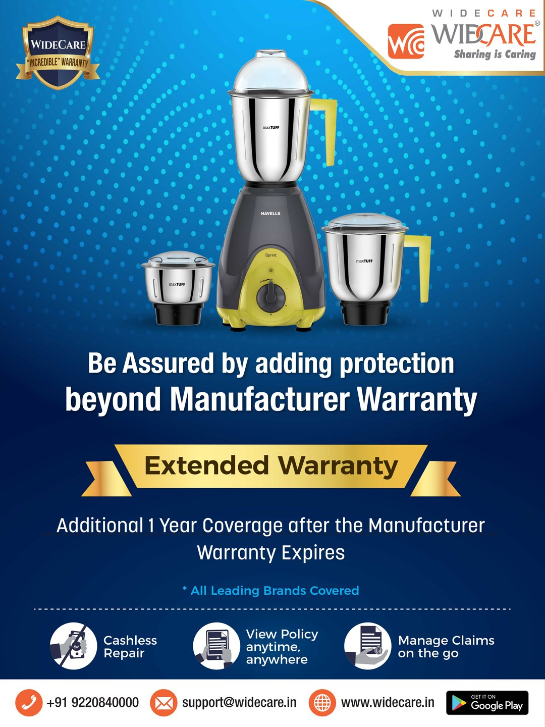 Buy Widecare 1 Year Extended Warranty For Mixer Grinders Online At Best Price Tata Cliq
