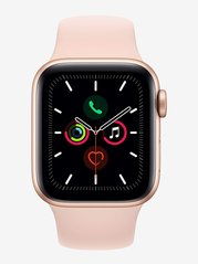 Apple Watch Series 5 (GPS + Cellular, 40mm) Gold Aluminum Case with Pink Sport Band
