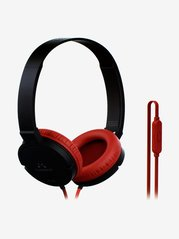 SoundMagic P10S Wired On The Ear Headphones with Mic  Black and Red  SoundMagic Electronics TATA CLIQ