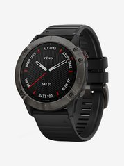 Garmin Fenix 6X Sapphire Fitness Tracker (Black and Carbon Grey)