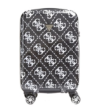 GUESS Coal Multi Vikky Medium Logo Printed 8Wh 18In Spinner Carry-On Luggage