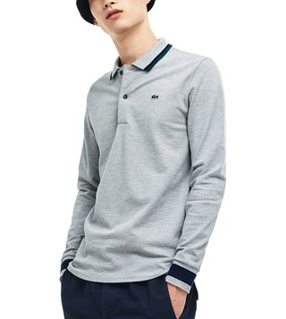 Lacoste Grey Slim Fit Polo T-Shirt