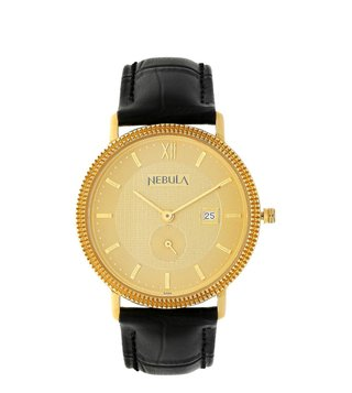 Nebula Watches ND620DL03 18KT Solid Gold Analog Watch for Men