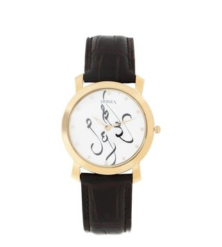 Nebula Watches 5024DL07 Calligraphy 18KT Solid Gold Analog Watch for Men