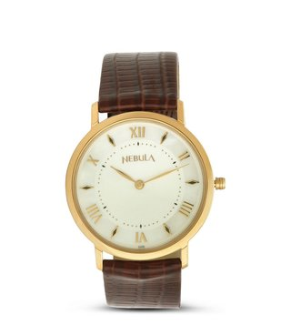 Nebula Watches ND600DL11 18KT Solid Gold Analog Watch for Men